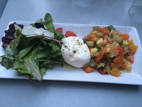 Basta Cosi ! : Burrata & légumes tièdes confits à l'huile d'olive