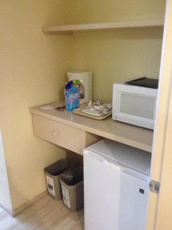 The Royal Islander All Suites Resort : Mini fridge area