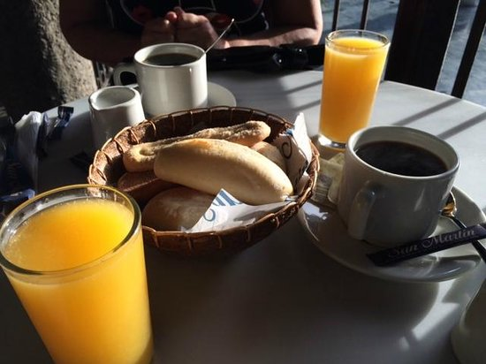 San Martín: part of your breakfast,too!
