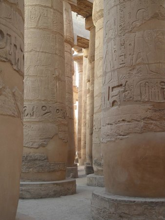 Luxor Temple: base columnas