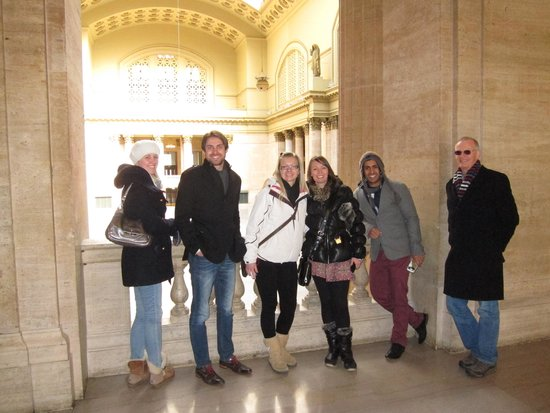 Union Station: Colleagues on a visit to Midwinter Dental