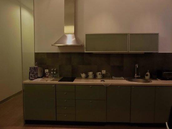 Siesta Aparthotel : Cocina totalmente equipada