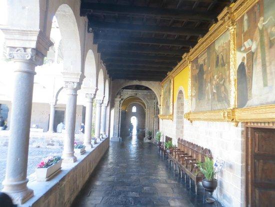 Museo de sitio del Qoricancha: Qorikancha - corredor interno
