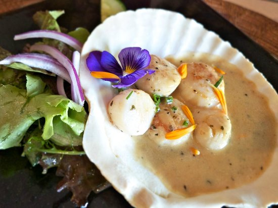 The Dunes Studio Gallery and Cafe : Scallop appetizer