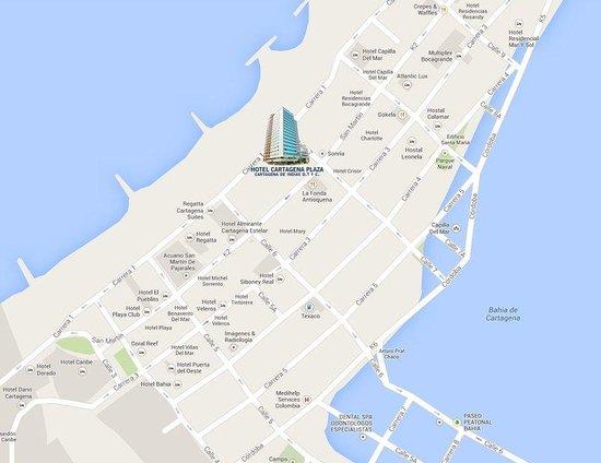 Hotel Cartagena Plaza: Ubicación - Ubication
