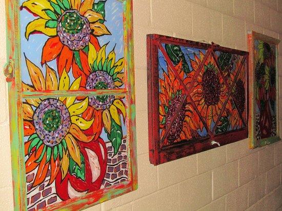 Nobody's Inn: Art in the hallway