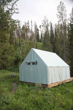 Barker-Ewing Whitewater: The tents