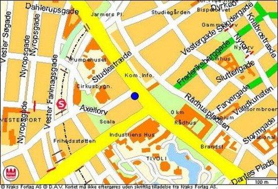 The Square Copenhagen: Area Map