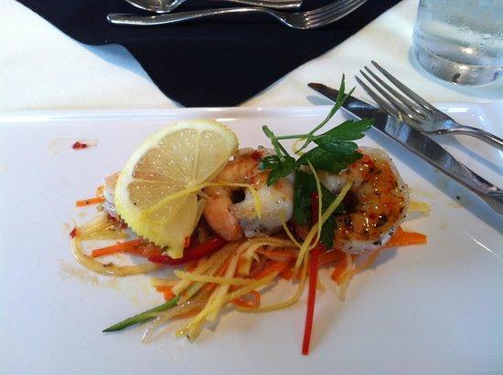 The Birches at Ben Eoin Cape Breton: Shrimp with honey chili sauce