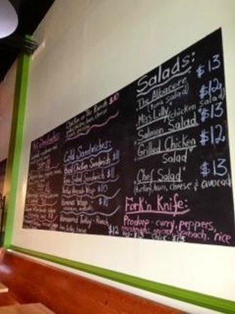 Wildflour: The menu.
