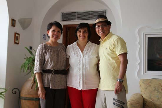 Hotel Biancamaria: With the owner Rosa