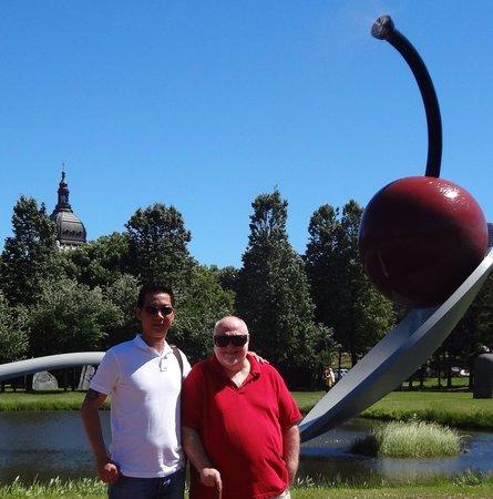 Minneapolis Sculpture Garden: Micky and I in Minneapolis