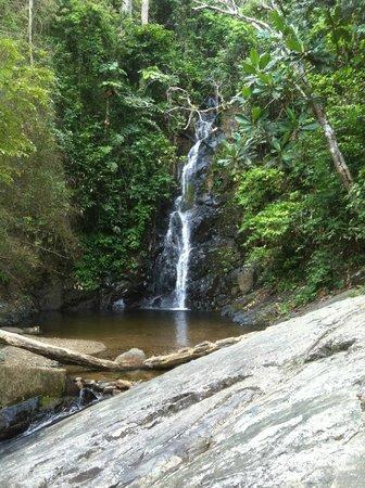 Telaga Tujuh Waterfalls: The top waterfall