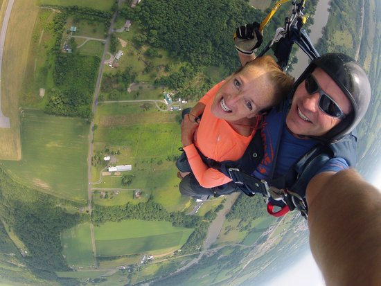Skydive Central New York: Relaxed and very happy