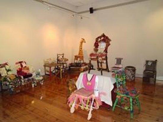 Wangaratta Visitor Information Centre Exhibition: crafty chairs