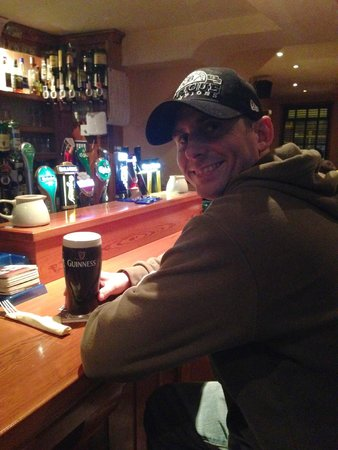 Breathnach's Bar: Bar and my handsome husband!