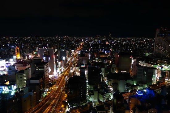 Hotel Monterey Grasmere Osaka: 房間外的夜景