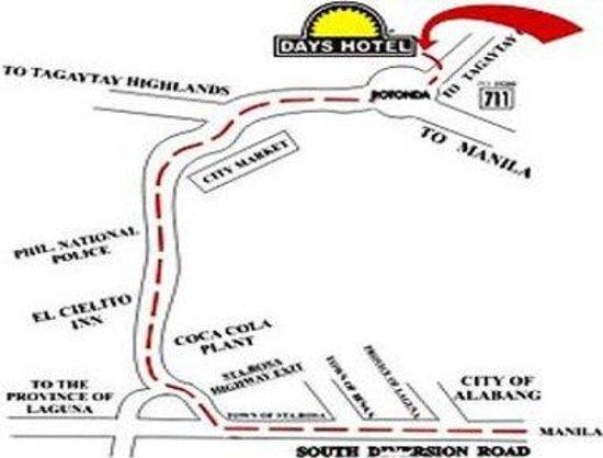 Days Hotel Tagaytay: Area Map