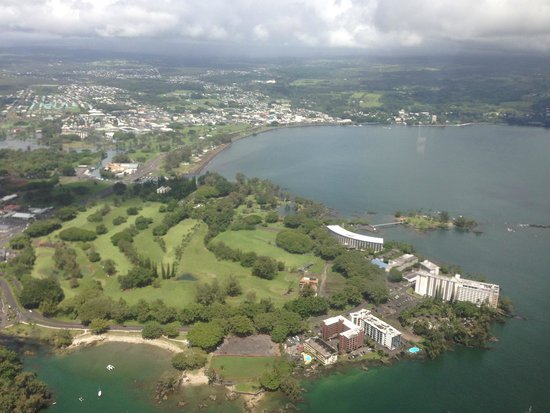 Blue Hawaiian Helicopters - Waikoloa: Hilo from the air