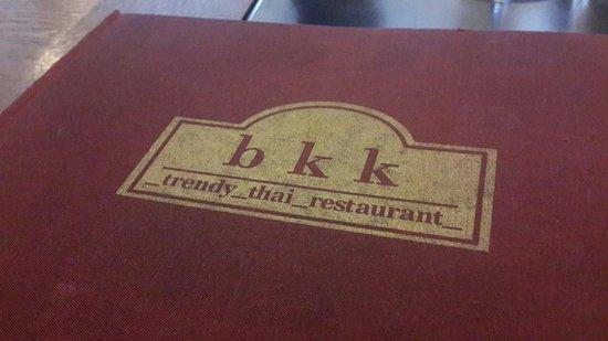 bkk Thai Restaurant: Menu