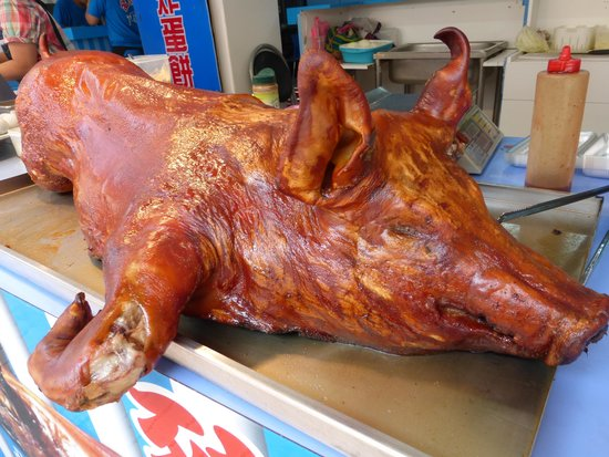 Wulai Falls: roast suckling pig