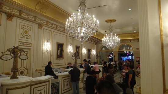 Paris Las Vegas: Lobby of the hotel.
