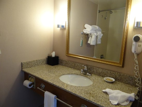 Best Western Agate Beach Inn: The sink and counter