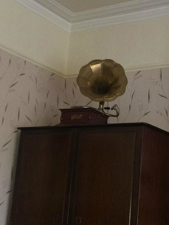 Cranleigh : old fashioned phonograph in the family suite
