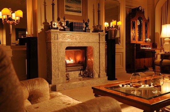 Regent Berlin : Presidential Suite Fireplace
