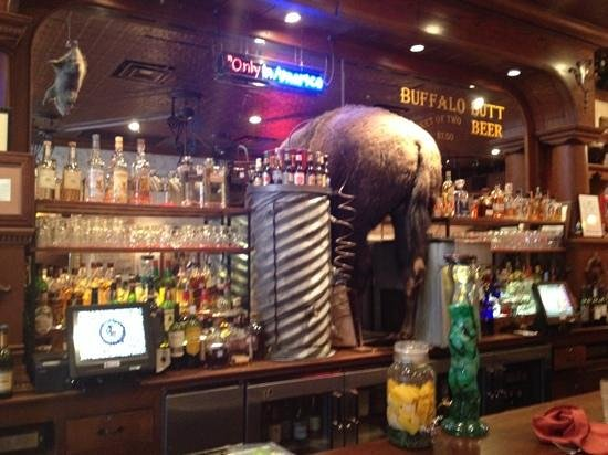 Texas Bar-B-Q Tour: a fun bar where yu can sit in a saddle as a stool