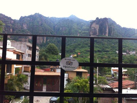 Nican Mo Calli: Vista de la terraza