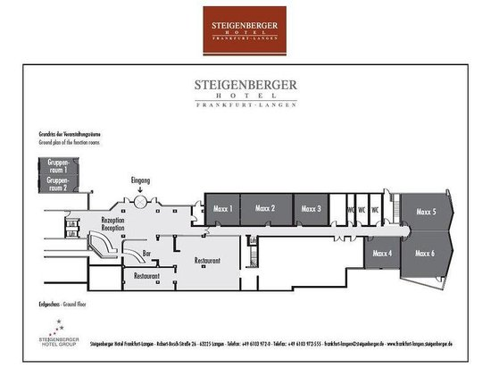 Steigenberger Frankfurt-Langen: Meeting floor plan