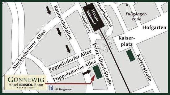 Centro Hotel Bristol: Site map