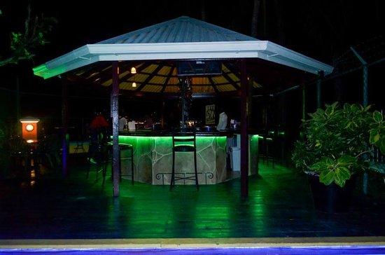 Bottles & Chimney Bar & Restaurant: NIghtime view of the bar