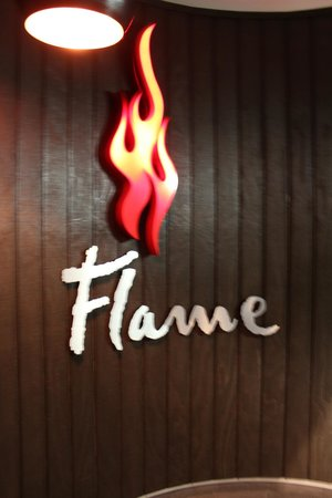 Flame Bar and Grill: entrance of Flame