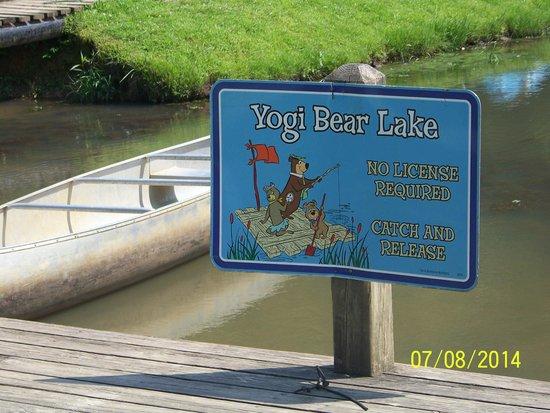 Hidden Creek Camping Resort: Yogi Bear Lake - Muddy - BUT FUN - Good Fishing!