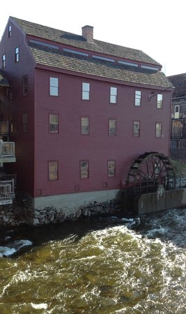 Back of Schilling Beer Co., an 18th century mill on the river