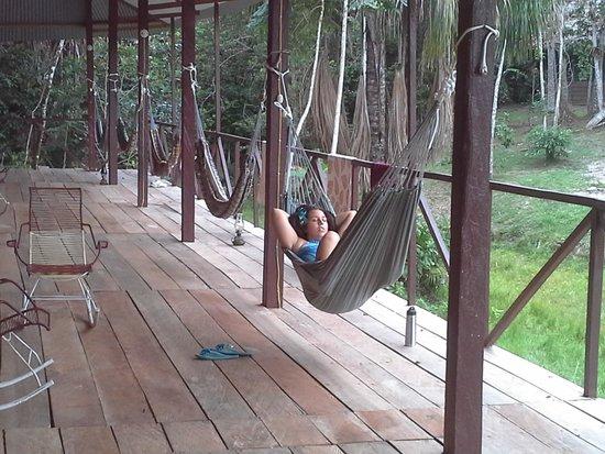 The Hummingbird Ayahuasca Retreat Center: chillin in one of the many hammocks