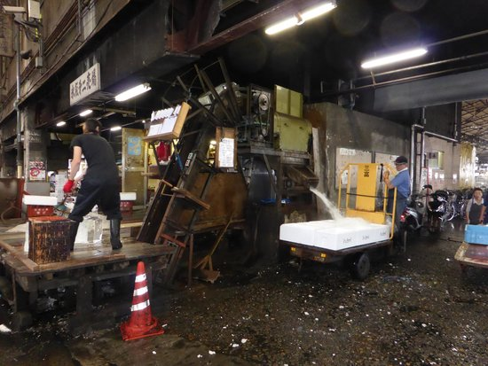 The Tsukiji Market: Ice Crushing Machine