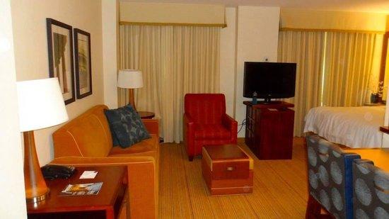 Residence Inn Arlington Capital View: Living room with sofa bed