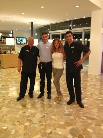 Premier Gran Hotel Reymar & Spa : The day before my departure with Angel, Jose and Jesus