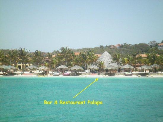 Parrot Tree Beach Resort: View across the lagoon