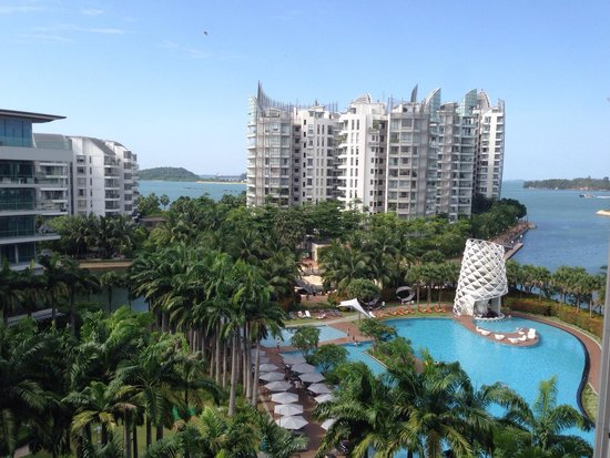 W Singapore Sentosa Cove: A pity the view is partially blocked by the condo in front.
