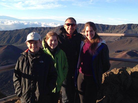 Bike Maui : Loving our sunrise volcano experience