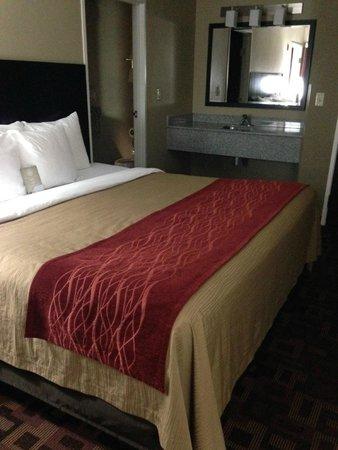 Comfort Inn & Suites : King bed & extra vanity