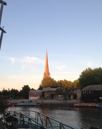 St Mary Redcliffe Church Bristol from the Terrace at The Riverstation