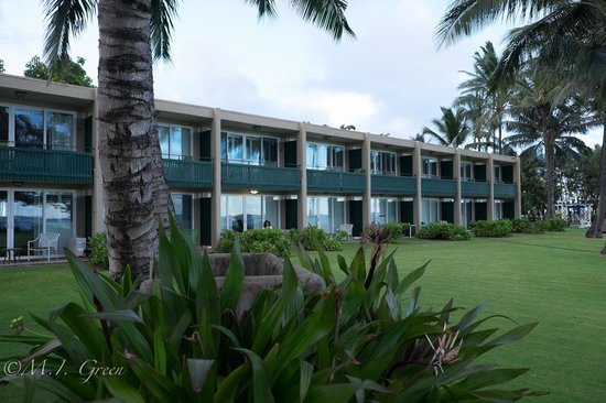 Hotel Coral Reef: The ocean front rooms seen from the beach.