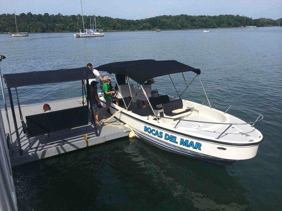 Hotel Bocas del Mar: Départ en bateau