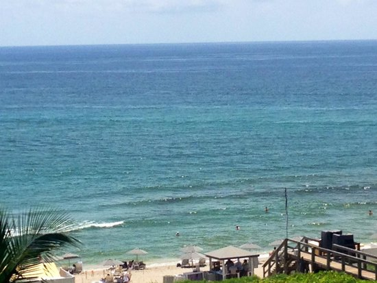 Boca Beach Club, A Waldorf Astoria Resort: Oceanview-partial of private beach with pier/boardwalk&steps leading down