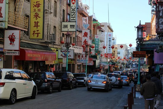 Chinatown : China town on Grant st., San francisco Ca